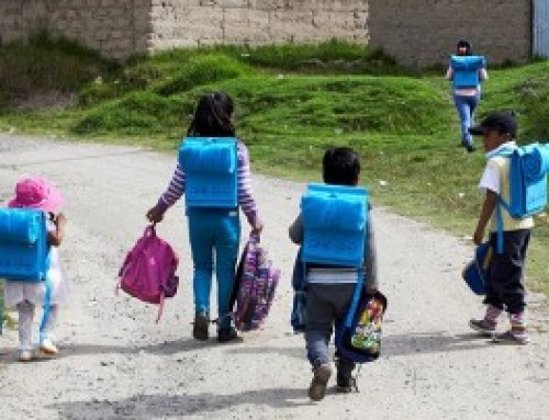 Peruvian recycling campaign is turning plastic bottles into poncho backpacks